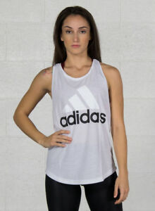 676d73d38d251c Adidas Ess Lin lo Tank Canotta Donna bianca Nero L | Acquisti Online ...