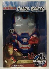 IRON PATRIOT MAN CHARA-BRICKS AVENGERS FIGURE SDCC 2013 LIMITED 1/100 GLOW EYES