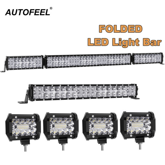 4x 4 inch + 20inch + 50inch LED Light Bar SPOT FLOOD Offroad Work Fog Lamp