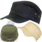 CAPPELLINO Militare ARMY Berretto COTONE per UOMO Donna CACCIA Baseball CAPPELLO