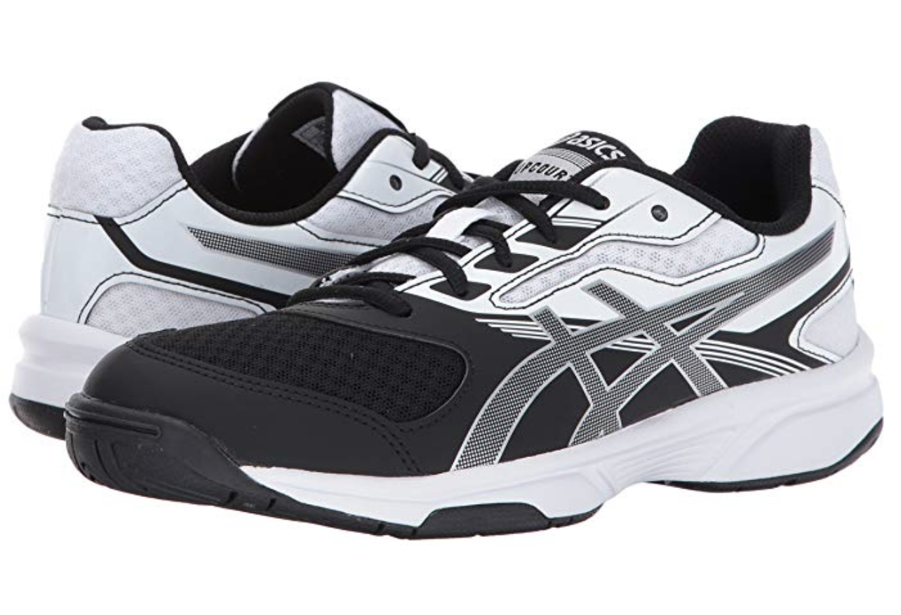 asics black and white volleyball shoes