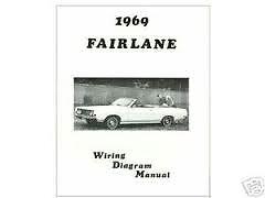 1969 FORD FAIRLANE TORINO RANCHERO WIRING DIAGRAMS SCHEMATICS MANUAL NICE NEW