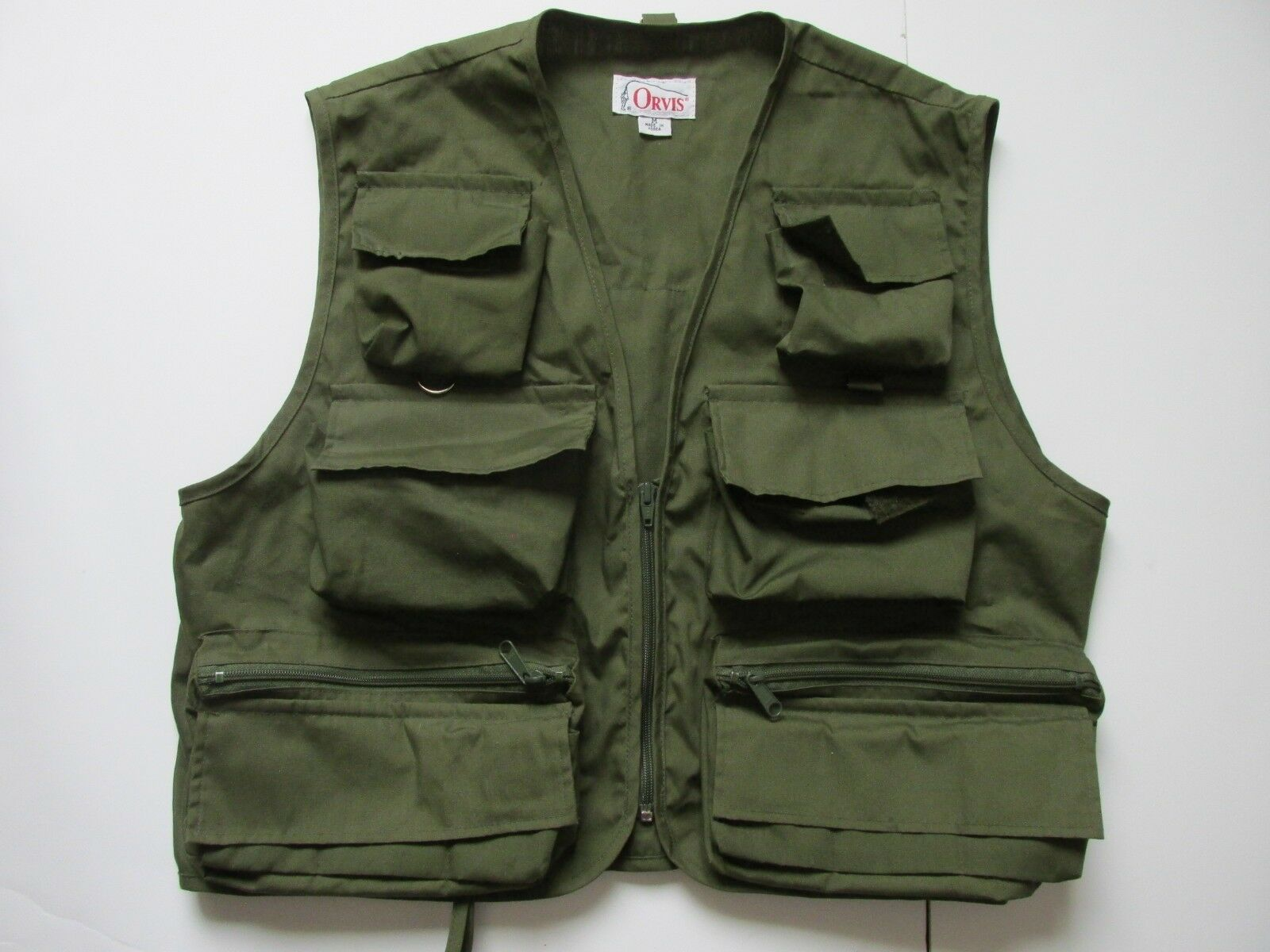 Orvis Vintage Green Fly Fishing Vest Korea  Men's Medium NYZ26