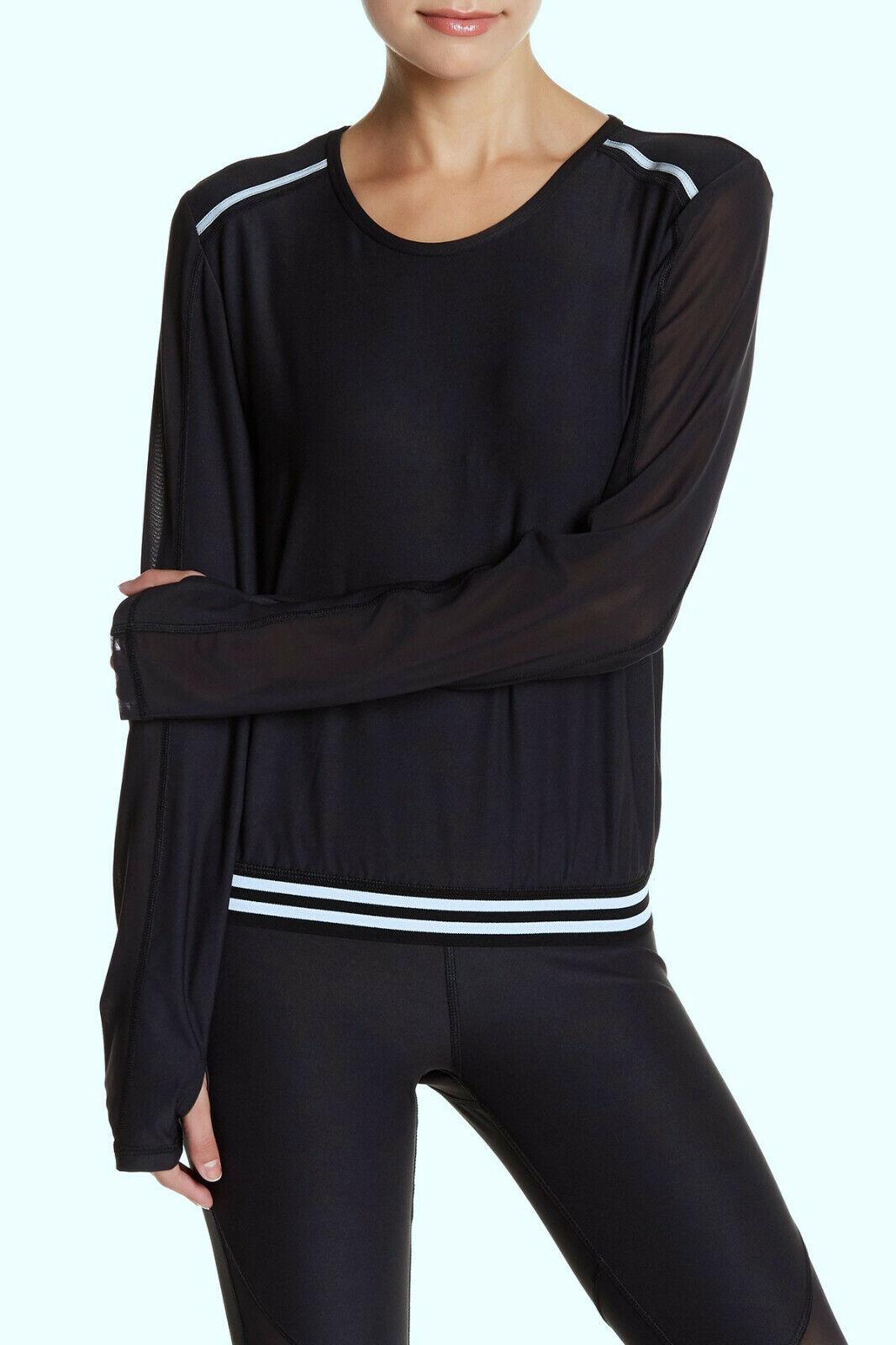 Mujeres Malla Entrenamiento Deporte Fitness Yoga Gimnasio Correr Atléticos Stretch Camisa Top Sz