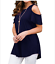 Plus-Size-Womens-Summer-Cold-Shoulder-Tee-Top-Short-Sleeve-Blouse-Casual-T-Shirt thumbnail 4