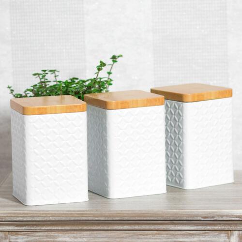 6 x blanc carré riz pâtes Sweet Food Boîtes de Stockage Pots conteneurs Set