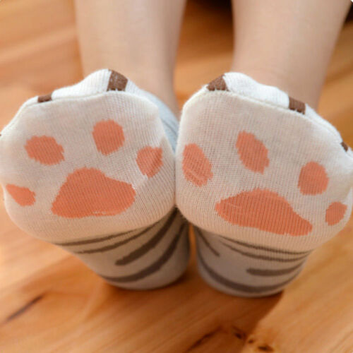 New Lady Girls Summer Winter Cartoon Cute Cats Paw Kitty Claws Ankle Short Socks