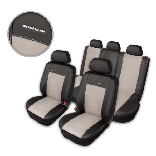 Premium Kunstleder Sitzbezüge Sitzbezug Schonbezüge für Nissan Note Grau Set