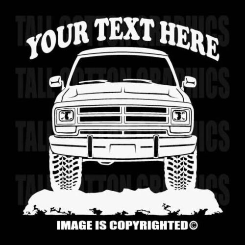 DODGE RAM 150 250 1986-1989 4x4 Off Road Cusotm Personalized Vinyl Decal
