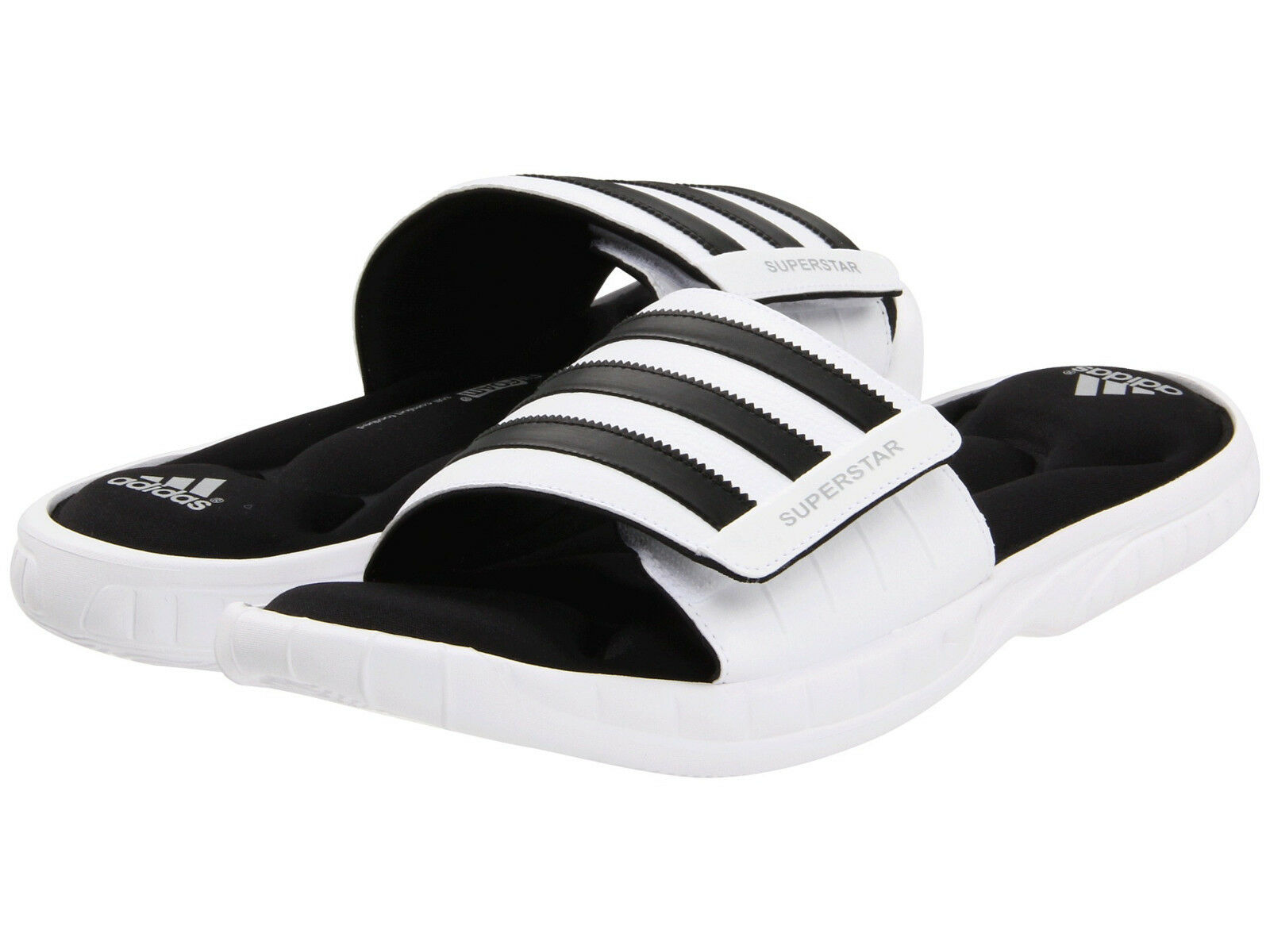 Herren Adidas Superstar 3G White Slides Athletic Sport Sandalen G61951 Größen 8-12