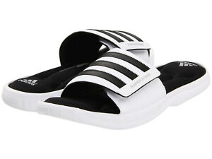 30b81f6c90b3e Chargement de l image Mens-Adidas-Superstar-3G-White-Slides-Athletic-Sport-