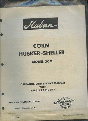 Original Set-Up  Manual International Harvester Corn Lister /& Planting Attach