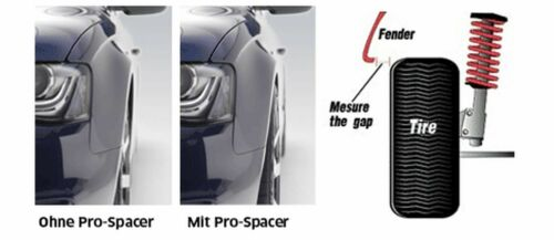 Eibach ABE Spurverbreiterung schwarz 40mm System 7 Audi A3 Cabrio 8P7,08-13