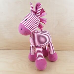 JELLYCAT-HORSE-JELLY-2564-PINK-WHITE-9-034-RATTLE-BEANIE-BOTTOM-SOFT-TOY-COMFORTER