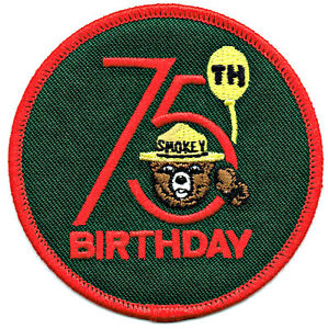 S9-Smokey-Bear-75th-Birthday-Patch-Forest-Service-Embroidered-Patch-NEW-in-bag