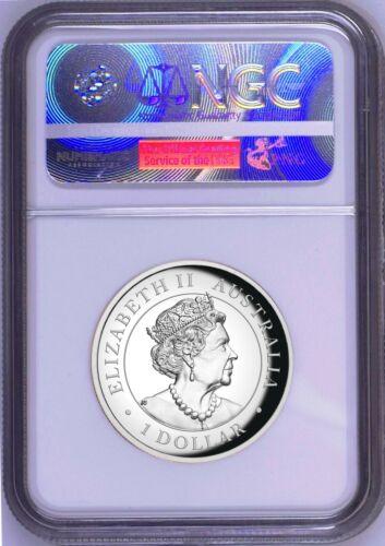 2019 Australia HIGH RELIEF 1oz Silver Kookaburra $1 Coin NGC PF70 Blue Label