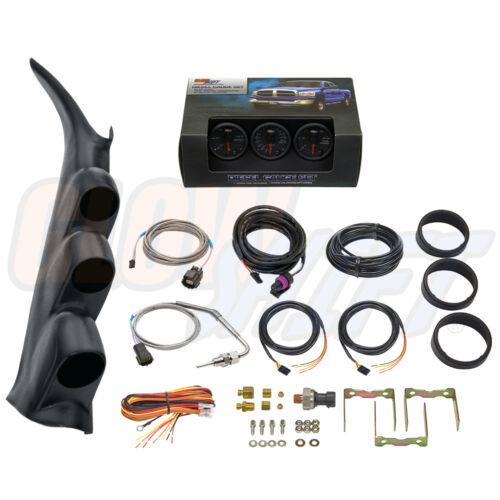 Black Pillar Pod for 00-06 GMC Sierra Duramax B7 Boost EGT Fuel PSI Gauges
