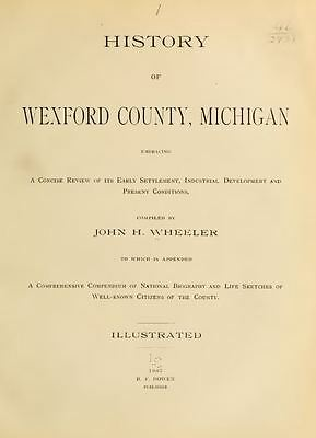 1882 History /& Genealogy of Macomb County Michigan MI