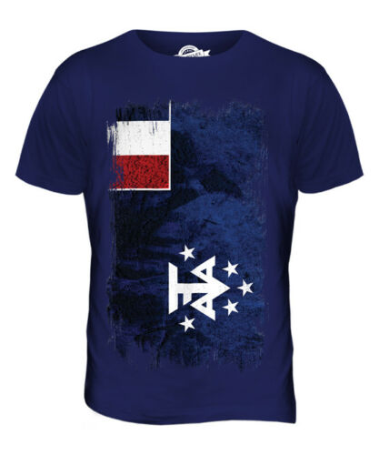 FRENCH SOUTHERN AND ANTARCTIC LANDS GRUNGE FLAG MENS T-SHIRT TEE TOP GIFT SHIRT