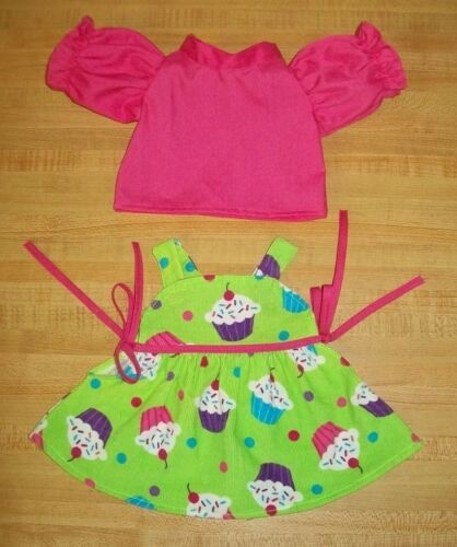 "CUPCAKE CORDUROY JUMPER for 16-17/"" CPK Cabbage Patch Kids PINK BLOUSE"