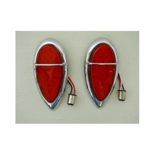 KNS Accessories KA0210 1938-39 Ford Tail Light Replacement in Red Spyder LED w//Red Lens /& 1157 Plug