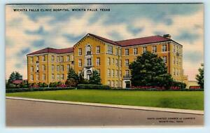 Wichita Falls Tx Texas Clinic Hospital 1946 Wichita County Postcard Ebay