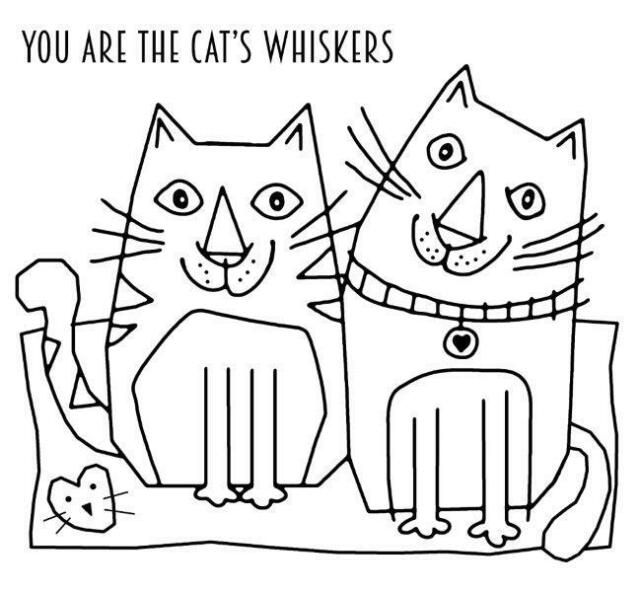 Cats Whiskers FRS038 Woodware Clear Singles Rubber Stamp