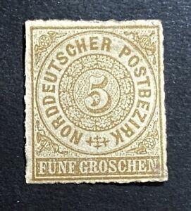 Altdeutschland-Norddt-Postbezirk-Mi-6-Falz