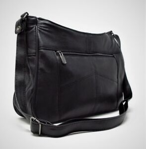 Italian-Leather-Ladies-Handbag-Black-Soft-Leather-Small-Shoulder-Hand-Bags-1967