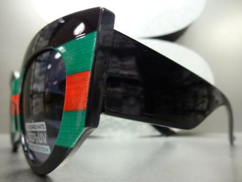 CLASSIC VINTAGE RETRO Cat Eye Style SUN GLASSES Red Black /& Green Thick Frame