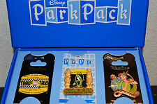 Disney Park Pack Pin  Enchanted Tiki, Mr. Toad's Wild Ride Taxi, and Peter Pan