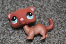 Littlest Pet Shop Brown Ferret #334 Weasel Blue Eyes LPS Toy Hasbro Retired