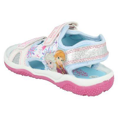 Niña Talla DISNEY FROZEN ANA ELSA Sandalias celeste blanco Playa Verano Zapatos