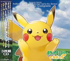 Nintendo Switch Pokemon Let's Go Pikachu Eevee Super Music Complete 3set CD