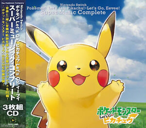 DHL-Pokemon-Let-039-s-Go-Pikachu-Eevee-SUPER-MUSIC-COMPLETE-Soundtrack-3CD-Booklet