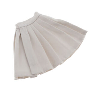 1/6 Fashion Female Pleated Skirt Clothes Outfit White for Doll Accessory