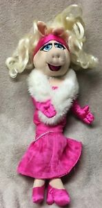 miss piggy pink evening gown disney store exclusive plush stuffed