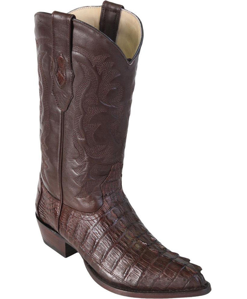 LOS ALTOS MEN Marronee GENUINE CROCODILE CAIMAN TAIL WESTERN COWBOY avvio J-TOE (D)