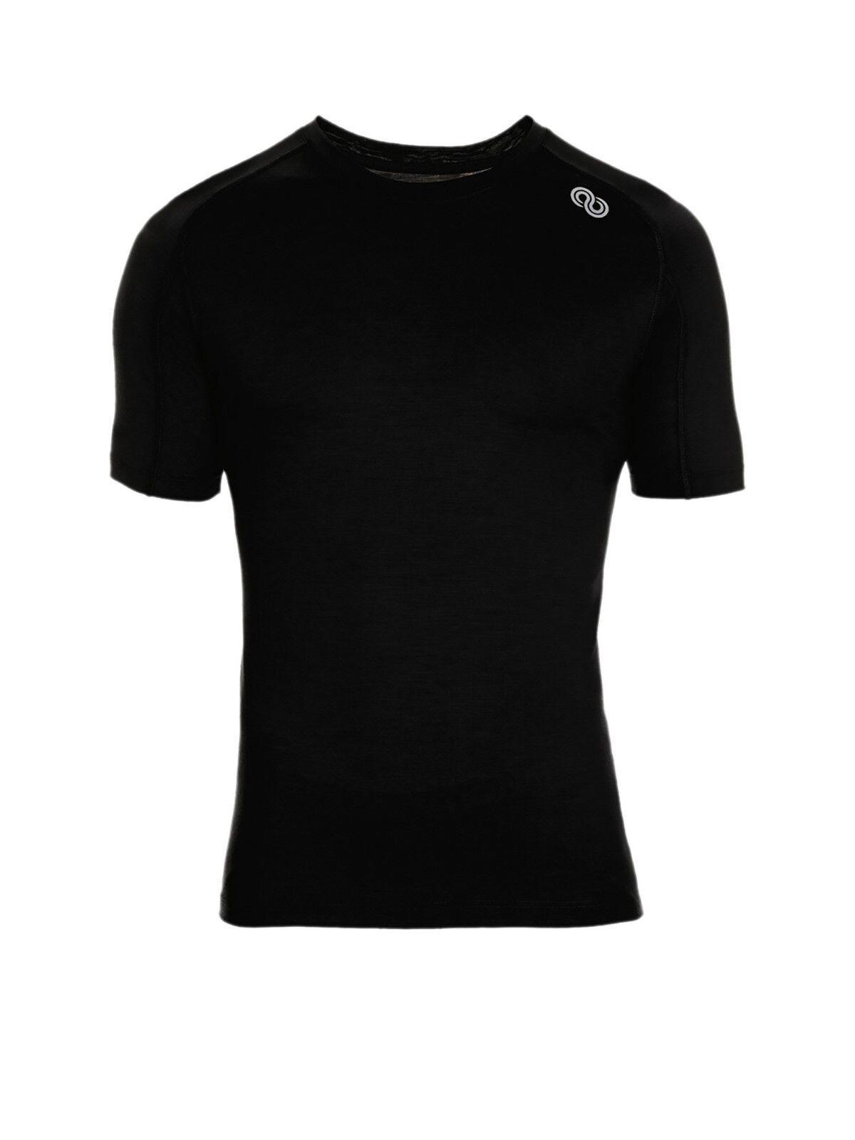 rotA Rewoolution Hero - Mens T-Shirt SS 140 Unterwäsche schwarz Merinowolle