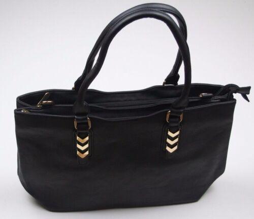 braun Damenhandtasche Umhängetasche in Lederoptik Schwarz dunkelgrau