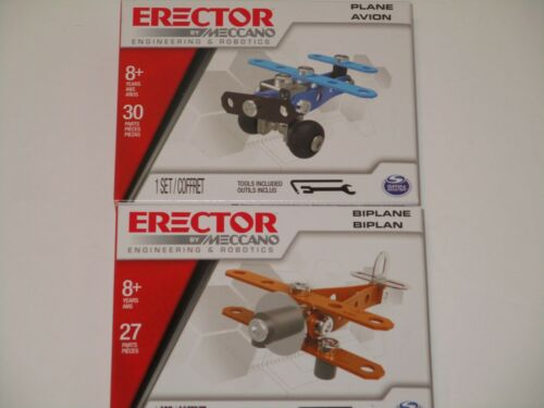 CARS /& PLANES Metal Model Building Kit Boy Toy Arts//Crafts Erector by Meccano