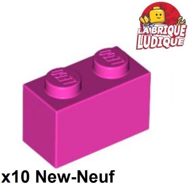 LEGO 4 Stk Raster Gelenk Scharnier Platte 1 x 2 rotbraun 44302  4211290 NEU