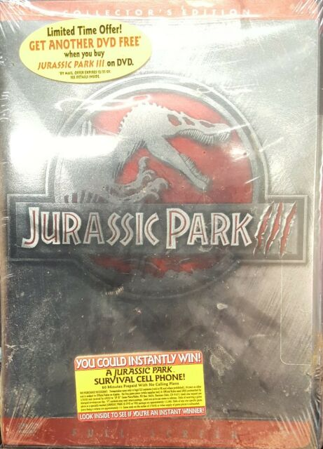 Jurassic park iii dvd full screen collectors edition ebay jurassic park iii dvd full screen collectors edition gumiabroncs Images