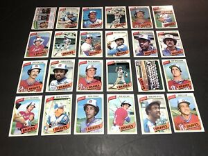 1980-Topps-ATLANTA-Braves-COMPLETE-SET-of-24-Cards-FREE-SHIP-Dale-MURPHY-Niekro