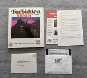 Forbidden-Castle-Apple-II-Angelsoft-Mindscape-vintage-adventure-computer-game