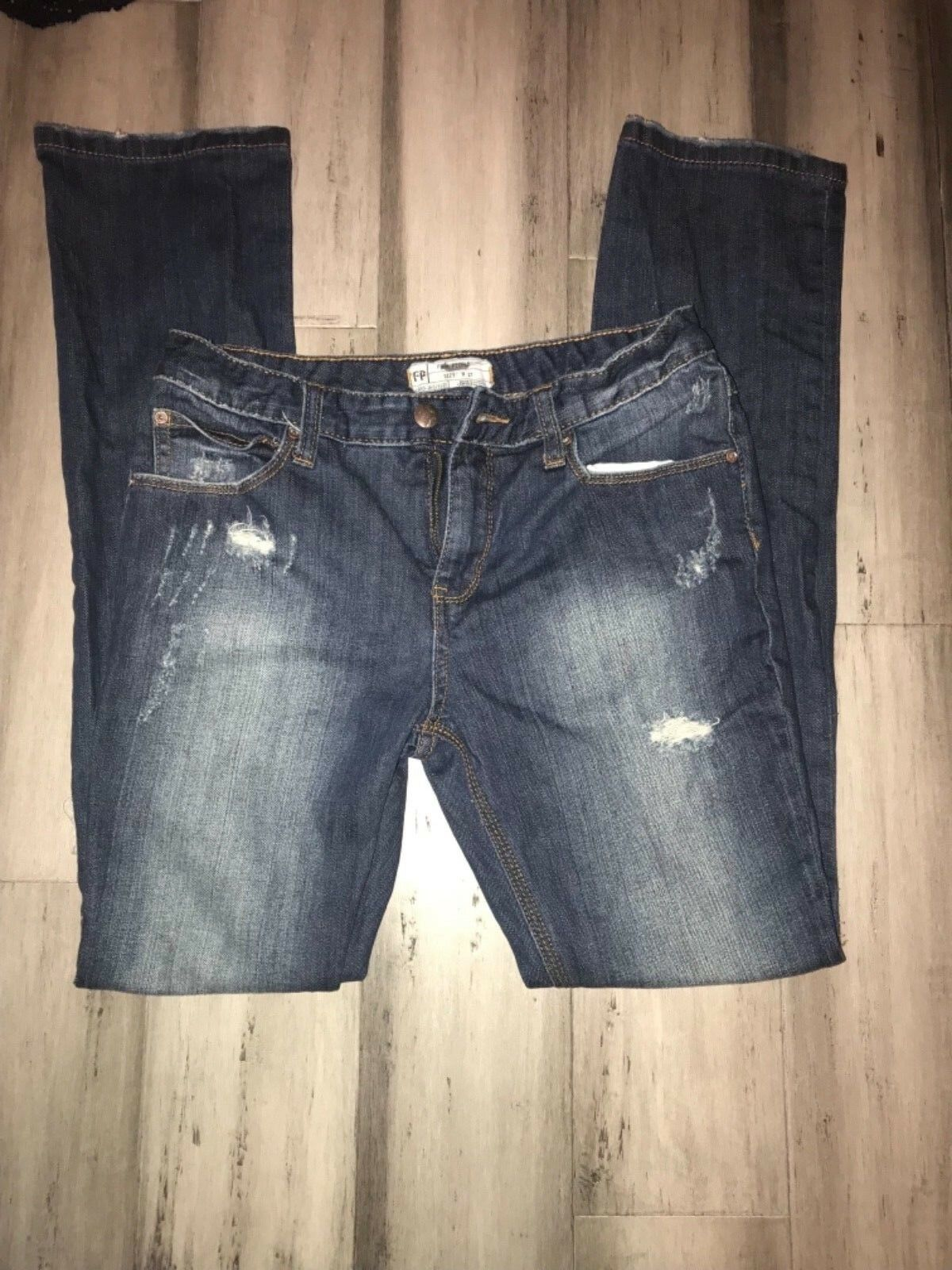 Free People Distressed Skinny Jeans Women's Size 27