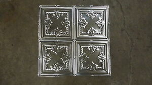 12-05    10  2' x 2' Tin Plated Steel Sheets. Victorian Design Tin Ceilings WoW!