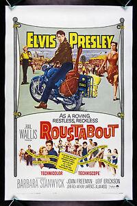 ROUSTABOUT CineMasterpieces ORIGINAL ELVIS PRESLEY BIKER ...