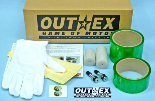 Tubeless Kit SUPER CUB110 CROSSCUB JA10 JA44  Wave125-i Front and Rear OUTEX