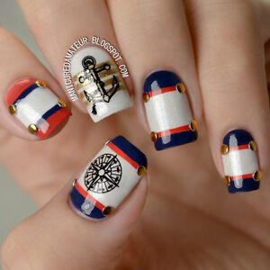 das bild wird geladen nagelsticker nail art tattoo aufkleber kompass anker muster - Nailart Muster
